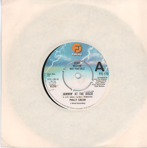 "Philly Cream Jammin' At The Disco - A Label 7"" vinyl single (7 inch record) UK PYM07JA637205"