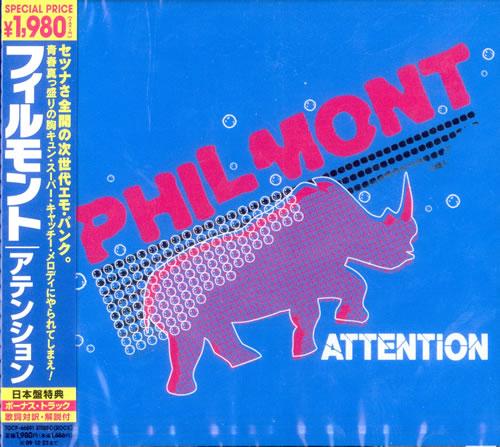 Philmont Attention CD album (CDLP) Japanese PQICDAT503186
