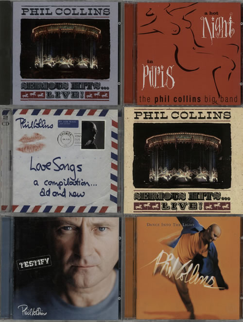 Phil Collins 1981-2002 Albums CD album (CDLP) UK COLCDAL626214