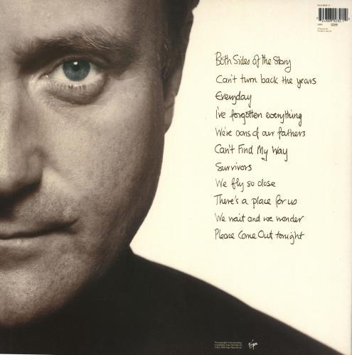 Phil Collins Both Sides - Autographed 2-LP vinyl record set (Double Album) UK COL2LBO730216