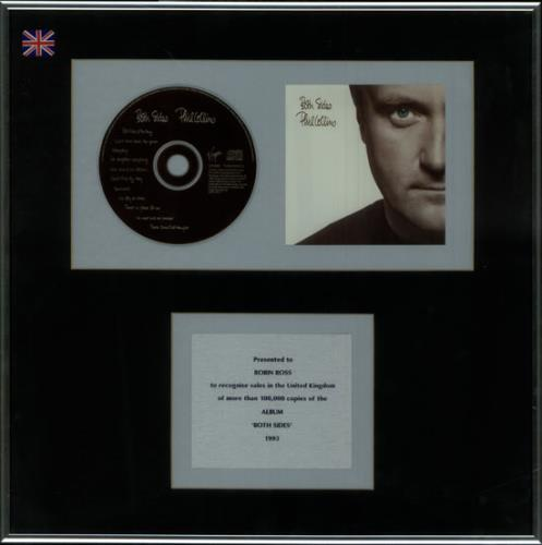 Phil Collins Both Sides in-house award disc UK COLAIBO345940