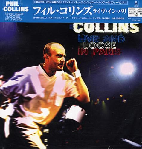 Phil Collins Live And Loose In Paris laserdisc / lazerdisc Japanese COLLZLI288841