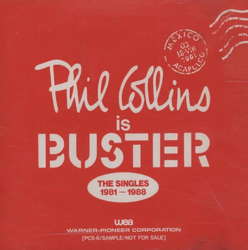 Phil Collins Phil Collins Is Buster... The Singles 1981-1988 CD album (CDLP) Japanese COLCDPH155135