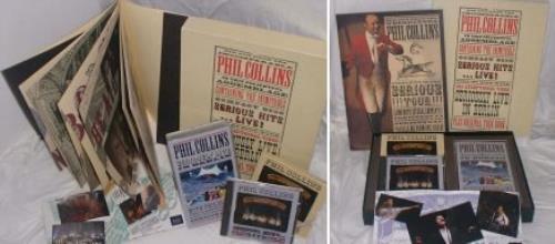 Phil Collins Serious Hits Live - CD & video box box set UK COLBXSE155956