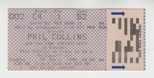 Phil Collins Serious Tour + four ticket stubs tour programme UK COLTRSE677247