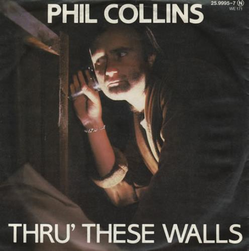 "Phil Collins Thru' These Walls 7"" vinyl single (7 inch record) German COL07TH279235"