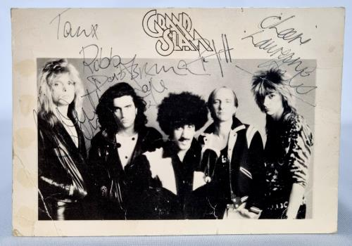 Phil Lynott Grand Slam - Signed Postcard memorabilia UK LYNMMGR723508