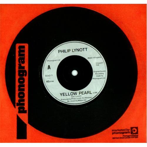 "Phil Lynott Yellow Pearl 7"" vinyl single (7 inch record) UK LYN07YE87889"