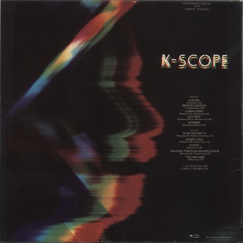 Phil Manzanera K-Scope vinyl LP album (LP record) UK PMZLPKS736877
