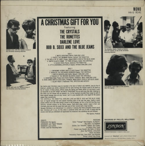 A Christmas Gift For You From Phil Spector.Phil Spector A Christmas Gift For You Ex Uk Vinyl Lp Album