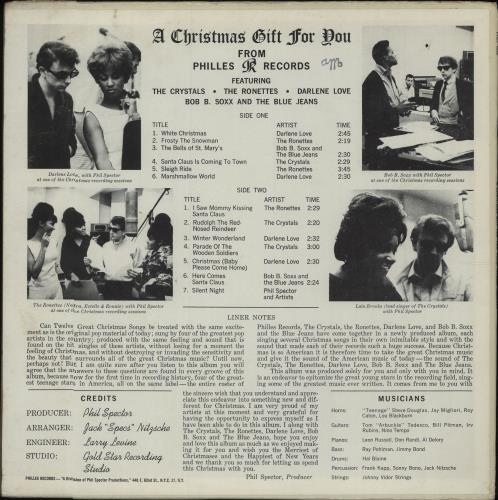 A Christmas Gift For You From Phil Spector.Phil Spector A Christmas Gift For You From Philles Records