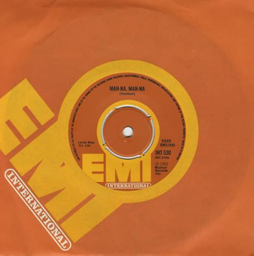 "Piero Umiliani Mah-Na, Mah-Na 7"" vinyl single (7 inch record) UK PIU07MA405526"