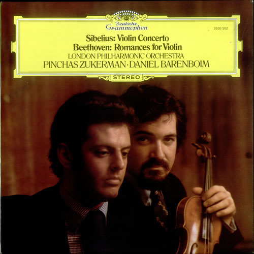 Pinchas Zukerman & Daniel Barenboim Sibelius: Violin Concerto / Beethoven: Romances for Violin vinyl LP album (LP record) UK QIOLPSI530538