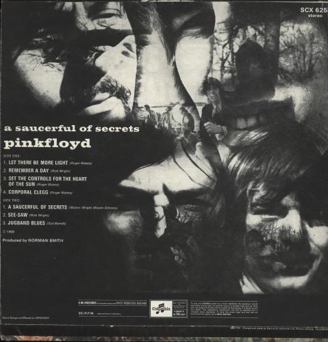Pink Floyd A Saucerful Of Secrets - 1st - VG+ vinyl LP album (LP record) UK PINLPAS530957