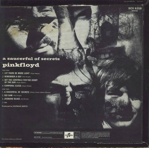 Pink Floyd A Saucerful Of Secrets - 2nd - VG vinyl LP album (LP record) UK PINLPAS750087