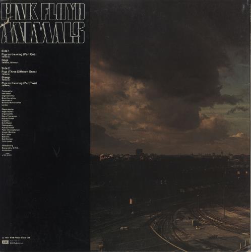 Pink Floyd Animals - 3rd vinyl LP album (LP record) Italian PINLPAN727070