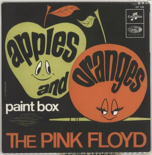 "Pink Floyd Apples And Oranges 7"" vinyl single (7 inch record) French PIN07AP81335"