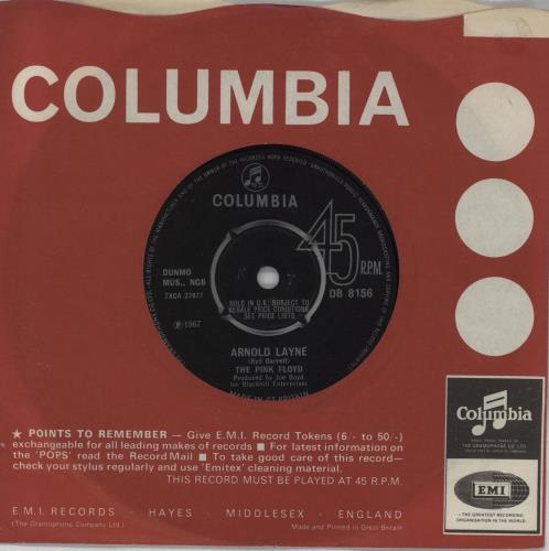 "Pink Floyd Arnold Layne - 4pr - EX 7"" vinyl single (7 inch record) UK PIN07AR737362"