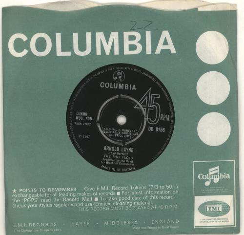 "Pink Floyd Arnold Layne - 4pr - VG 7"" vinyl single (7 inch record) UK PIN07AR712917"
