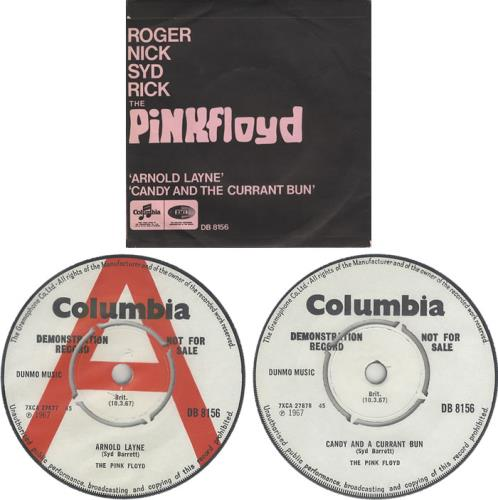 "Pink Floyd Arnold Layne - Demo - Picture Sleeve 7"" vinyl single (7 inch record) UK PIN07AR401094"
