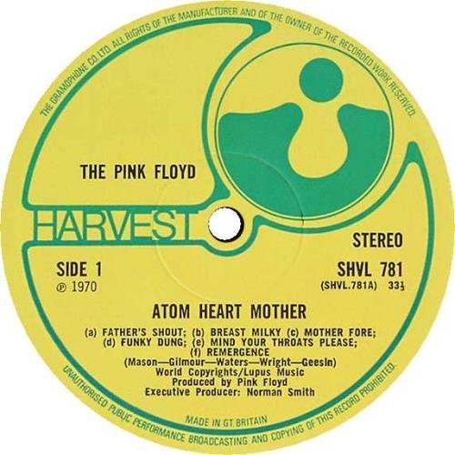 Pink Floyd Atom Heart Mother - 1st - EX vinyl LP album (LP record) UK PINLPAT530986