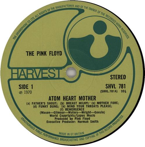 Pink Floyd Atom Heart Mother - 1st - VG vinyl LP album (LP record) UK PINLPAT581979