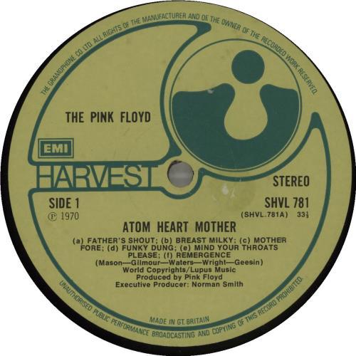 Pink Floyd Atom Heart Mother - 2nd - EX vinyl LP album (LP record) UK PINLPAT584326