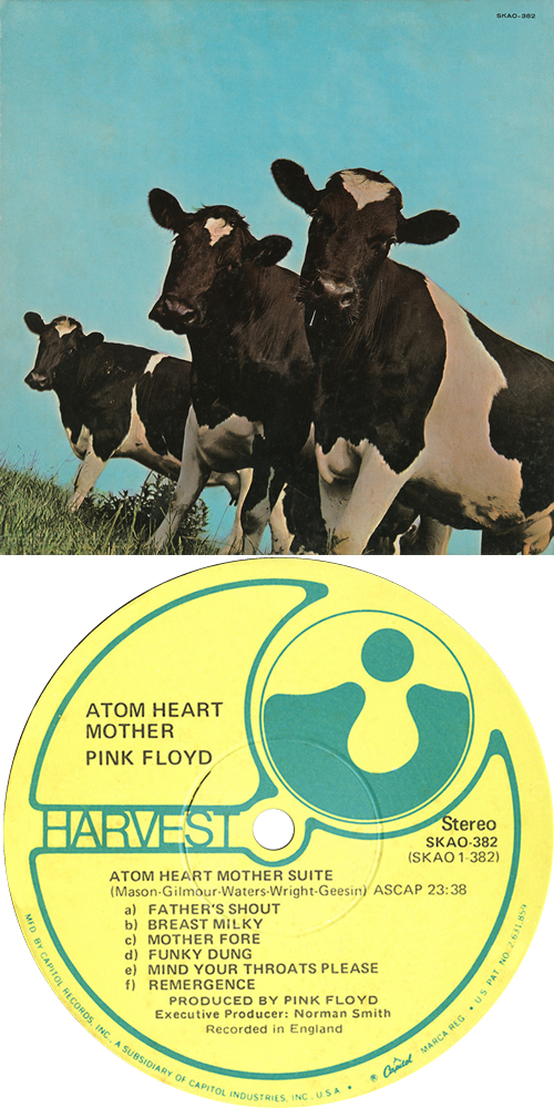 Pink Floyd Atom Heart Mother - 2nd - Winchester, Virginia vinyl LP album (LP record) US PINLPAT501389