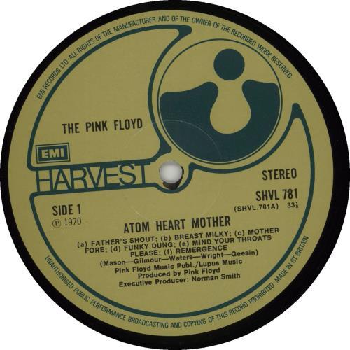 Pink Floyd Atom Heart Mother - 3rd - Sample vinyl LP album (LP record) UK PINLPAT676914