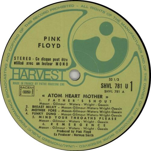 Pink Floyd Atom Heart Mother - 3rd vinyl LP album (LP record) French PINLPAT554383