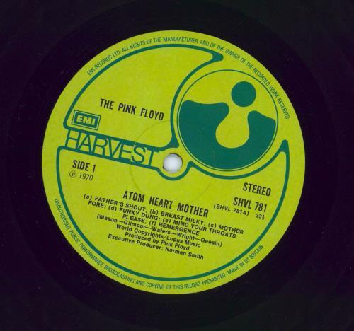 Pink Floyd Atom Heart Mother - EMI - EX vinyl LP album (LP record) UK PINLPAT610021