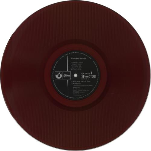 Pink Floyd Atom Heart Mother - Red + Obi - EX vinyl LP album (LP record) Japanese PINLPAT674790