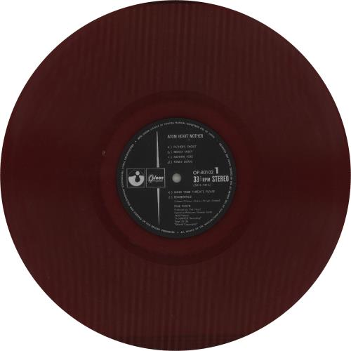 Pink Floyd Atom Heart Mother - Red Vinyl + 2 Obi's vinyl LP album (LP record) Japanese PINLPAT742612