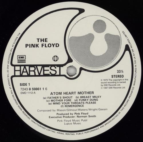 Pink Floyd Atom Heart Mother vinyl LP album (LP record) UK PINLPAT751968