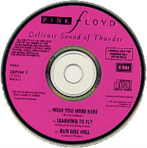 "Pink Floyd Delicate Sound Of Thunder CD single (CD5 / 5"") UK PINC5DE11058"