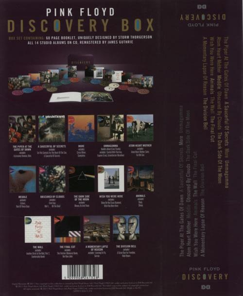 Pink Floyd Discovery Box CD Album Box Set UK PINDXDI605564