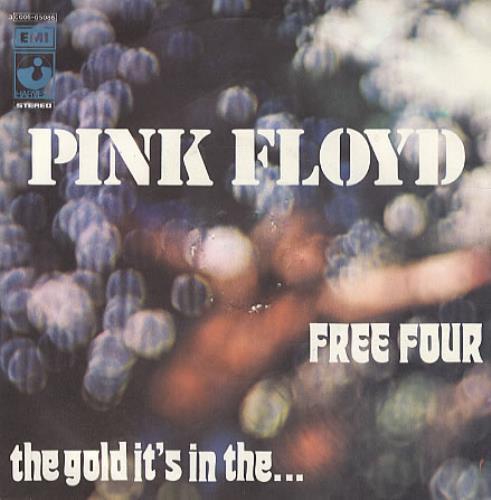 "Pink Floyd Free Four - 1st - P/S - EX 7"" vinyl single (7 inch record) Italian PIN07FR336212"