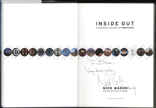 Pink Floyd Inside Out - Autographed by Nick Mason book UK PINBKIN736501