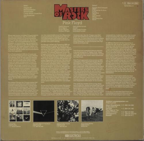 Pink Floyd Masters Of Rock - 2nd vinyl LP album (LP record) German PINLPMA663026