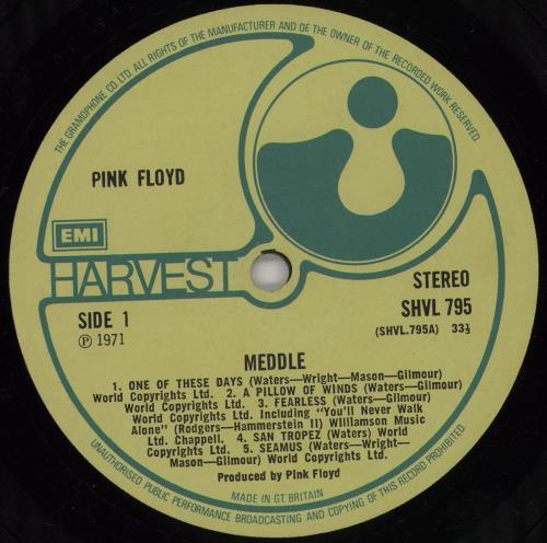 Pink Floyd Meddle - 1st - EX vinyl LP album (LP record) UK PINLPME584193