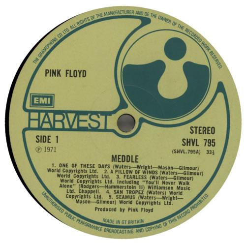 Pink Floyd Meddle - 1st - VG vinyl LP album (LP record) UK PINLPME383554