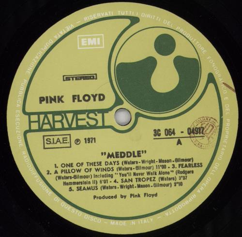 Pink Floyd Meddle - 2nd vinyl LP album (LP record) Italian PINLPME758286