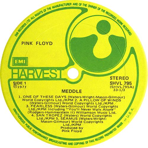Pink Floyd Meddle - 3rd - Made In USA - EX vinyl LP album (LP record) UK PINLPME592394