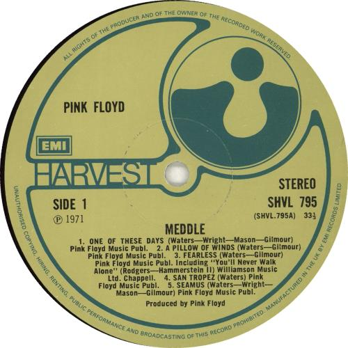 Pink Floyd Meddle - 4th - EX vinyl LP album (LP record) UK PINLPME702584