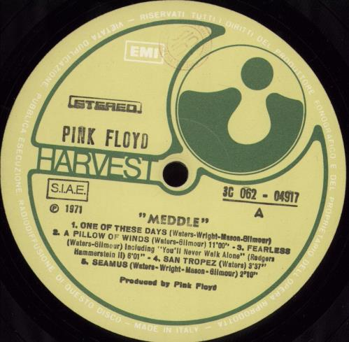 Pink Floyd Meddle vinyl LP album (LP record) Italian PINLPME769321
