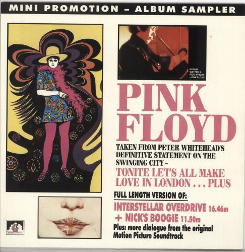 Pink Floyd Mini Promotion - Album Sampler - EX vinyl LP album (LP record) UK PINLPMI721498