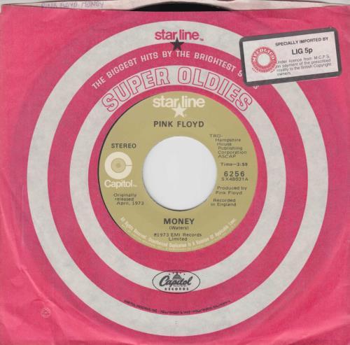 "Pink Floyd Money 7"" vinyl single (7 inch record) US PIN07MO617750"