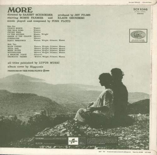 Pink Floyd More - 1st - EX vinyl LP album (LP record) UK PINLPMO585643