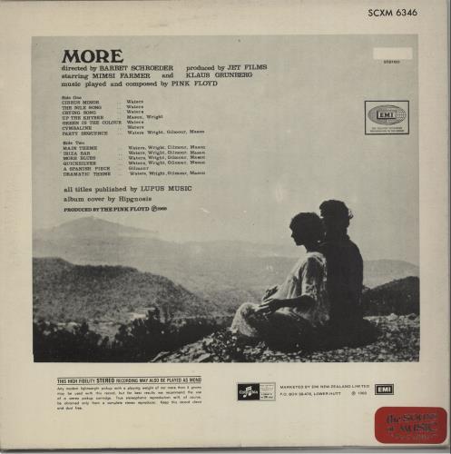 Pink Floyd More - 3rd vinyl LP album (LP record) New Zealand PINLPMO656844