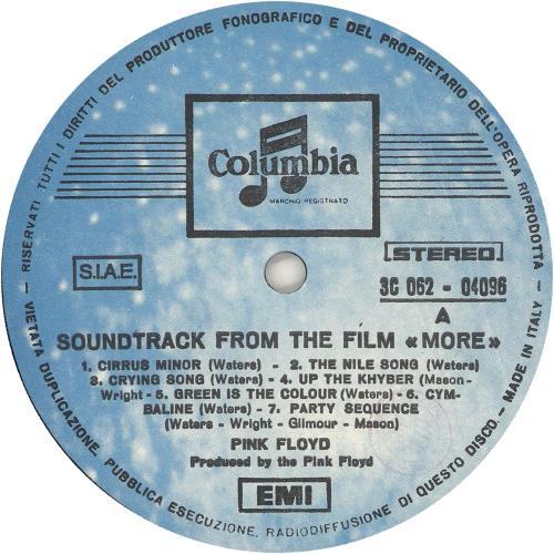 Pink Floyd More - 3rd vinyl LP album (LP record) Italian PINLPMO747885